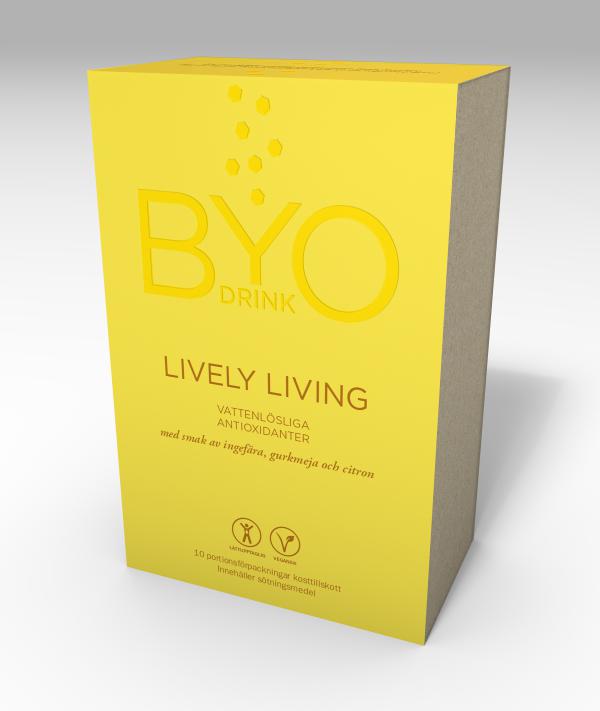 byo drink vitamindryck Lively pulver dryck antiinflammatorisk gurkmeja ingefära citron